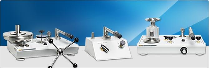 Pressurements deadweight testers and comparison test pumps calibration